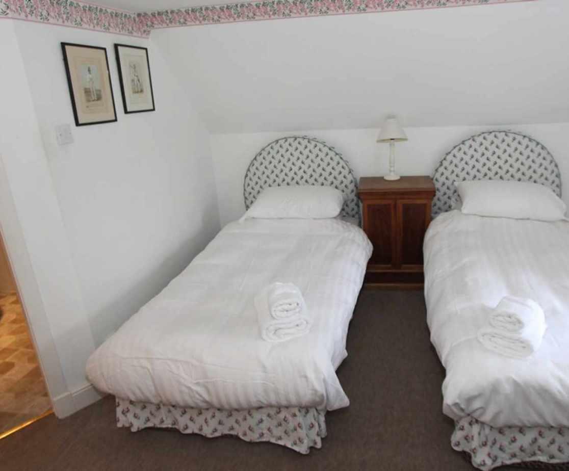 Bedroom no 5 is a first floor twin room