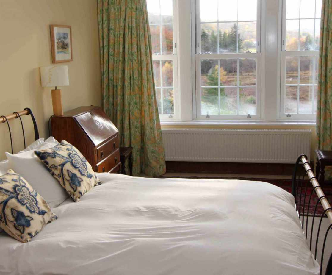 \'Front 2\' bedroom with views across the loch