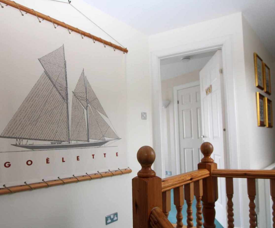 There is a gently nautical theme running throughout the house