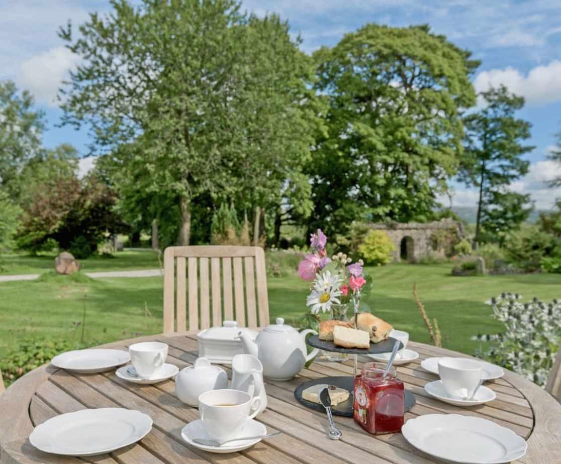 Enjoy dining al-fresco in the lovely garden
