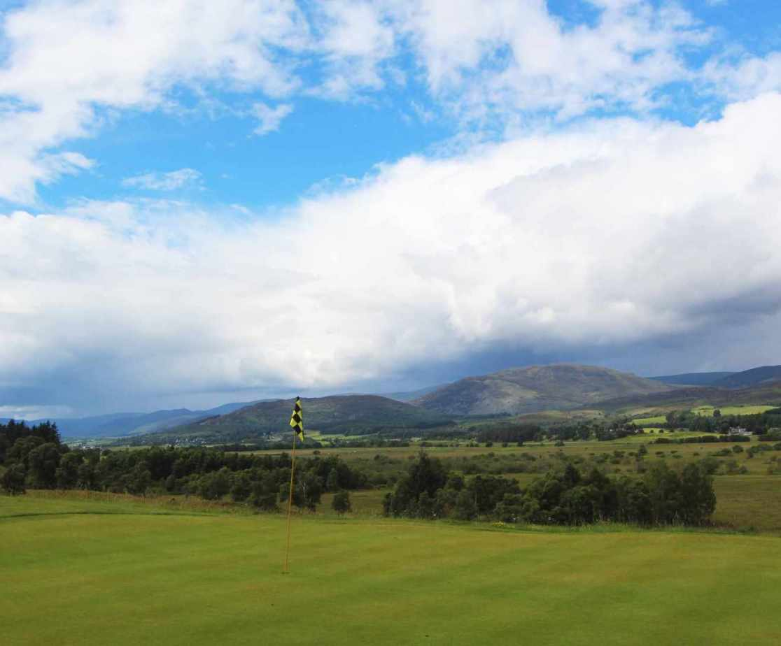 Your view across Strathspey whilst tapping-in on the golf course