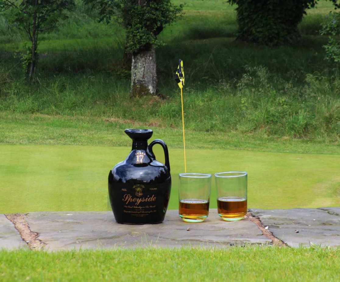 \'Speyside\' refreshment awaits at the \'19th hole\' in Speyside