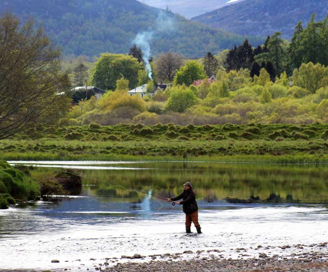 Fishing on the river Spey is available locally