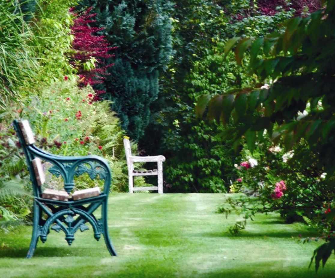 Take a stroll around the manicured gardens