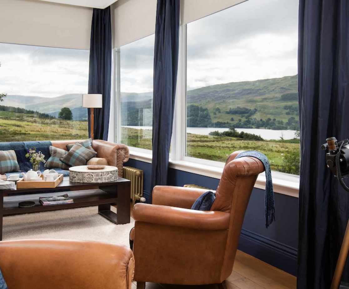 This living space has the best views over the loch