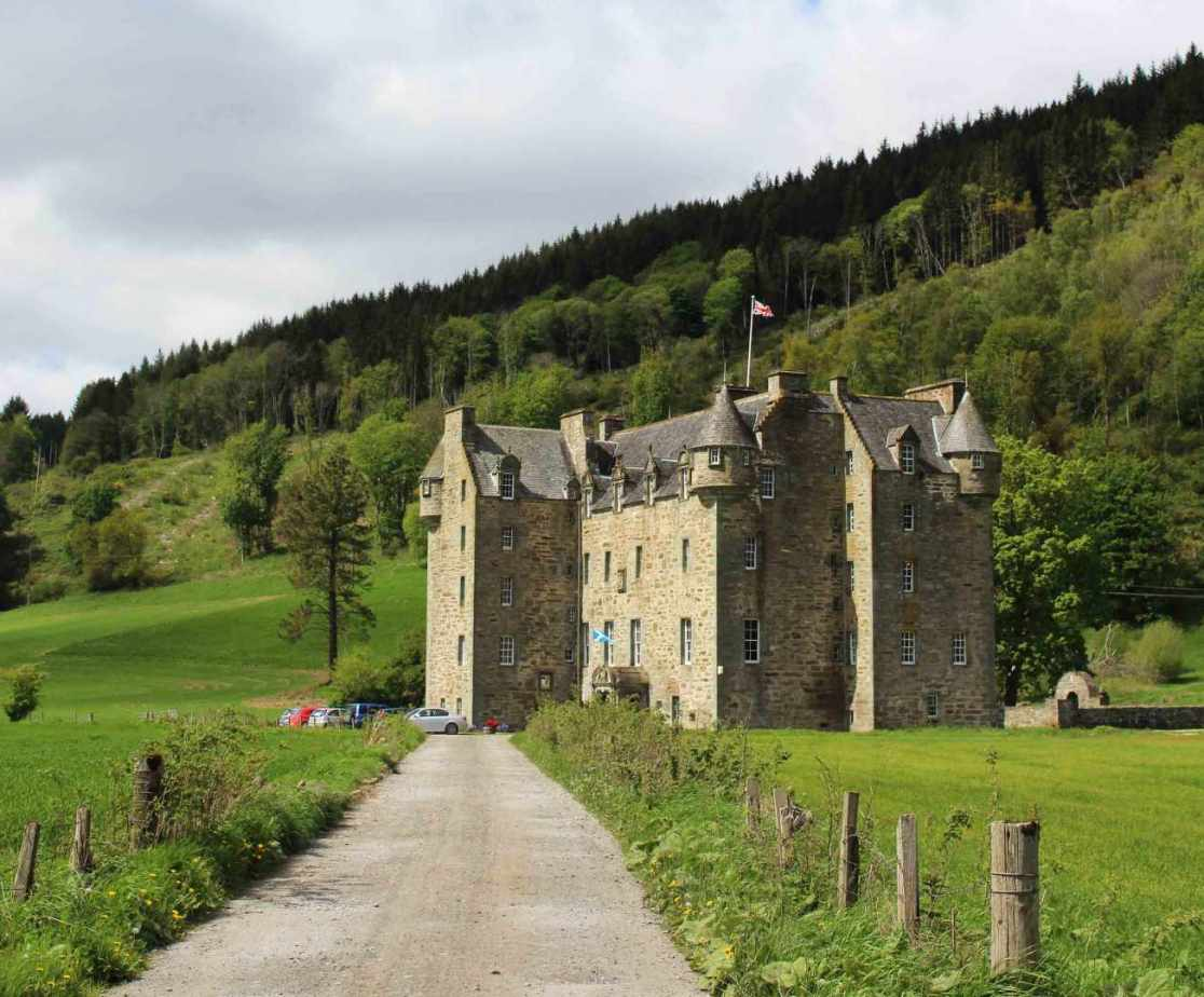 Menzies Castle near Aberfeldy is architecturally fascinating