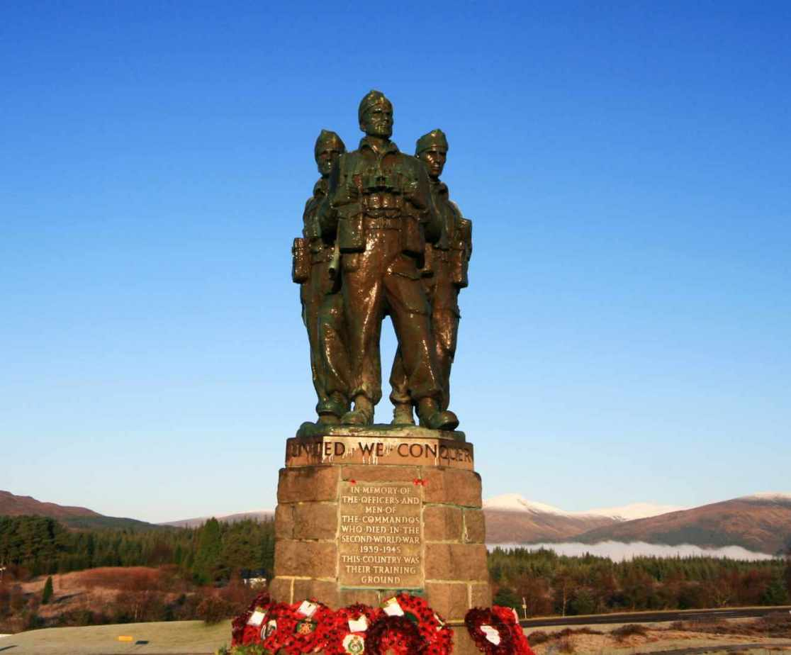 The Commando memorial near Spean Bridge