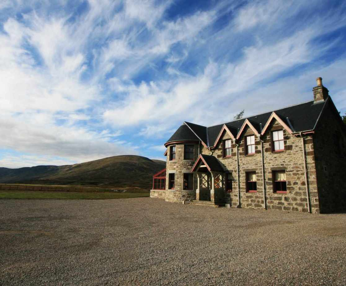 A sporting lodge built for the Duke of Atholl awaits