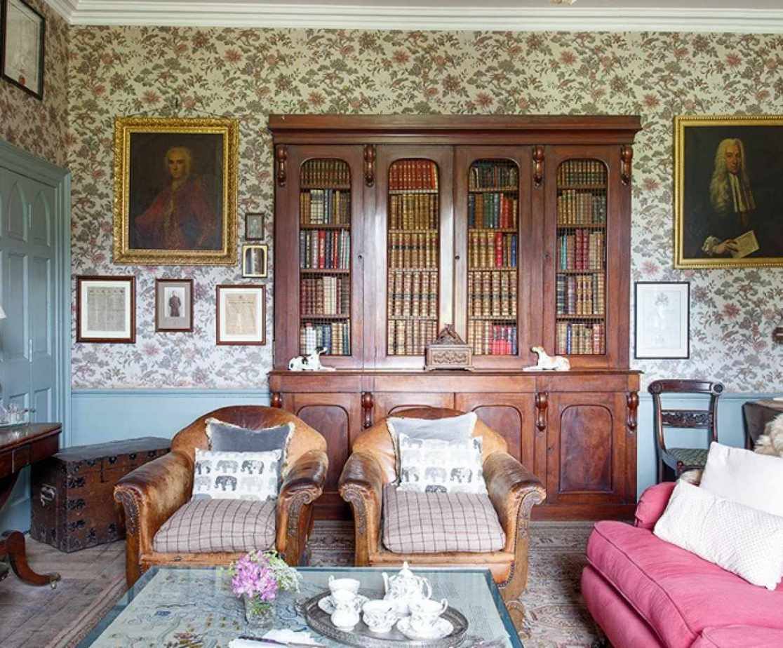 The second sitting room also known as the library