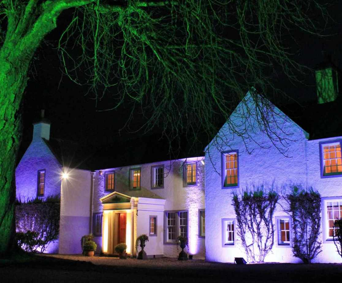 Beautifully maintained and lit up after dark by arrangement