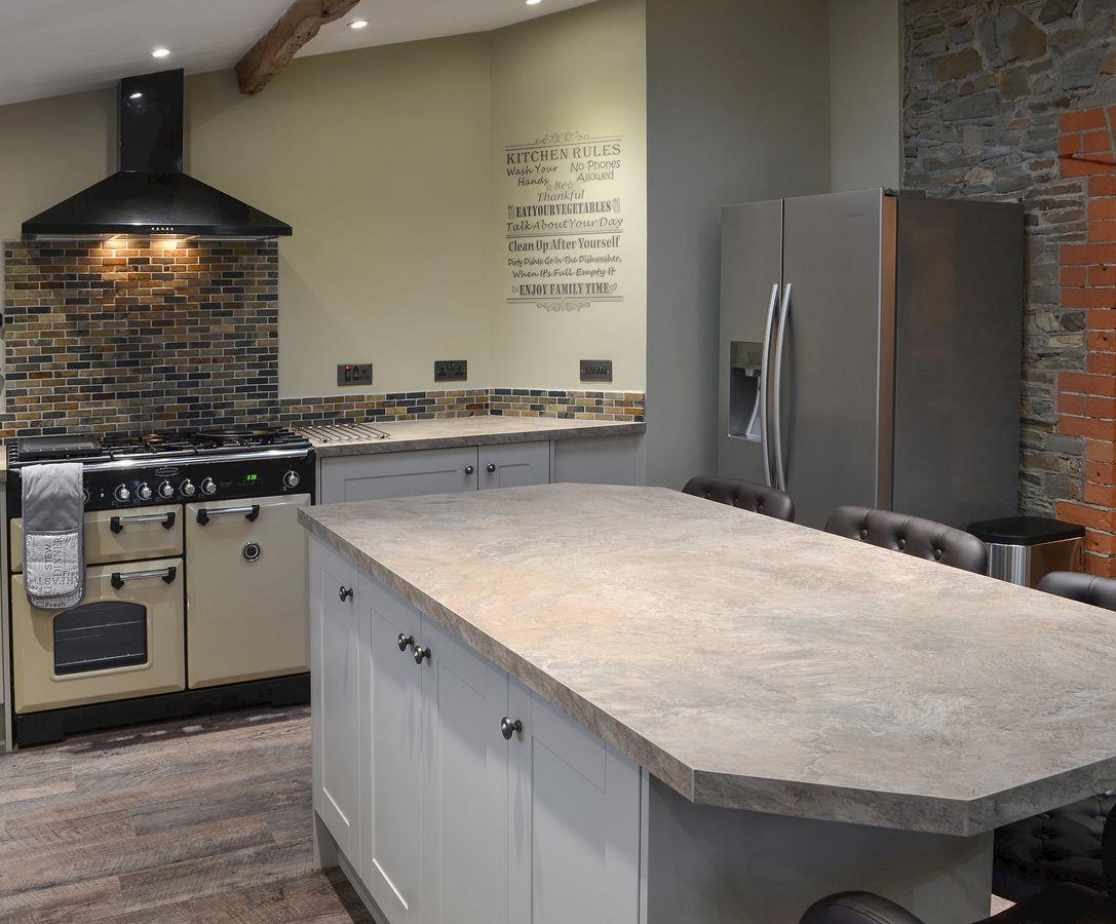 Lovely stylish kitchen with range style cooker
